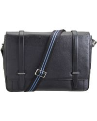 Smythson Large Gresham Messenger Bag - Black