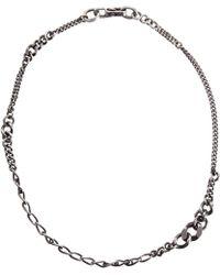 Werkstatt:münchen - Silver Graduated Curb Chain Necklace - Lyst