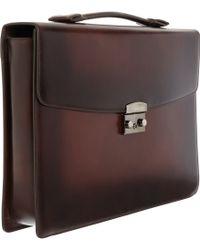 Araldi - Burnished Briefcase - Lyst