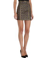 Balmain Scale Mini Skirt - Lyst