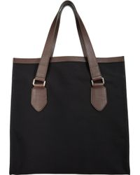 Barneys New York Black Opentop Tote - Lyst
