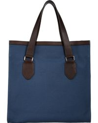 Barneys New York Blue Opentop Tote - Lyst