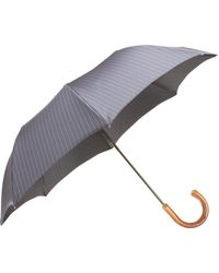 Barneys New York Pinstripe Folding Umbrella - Lyst
