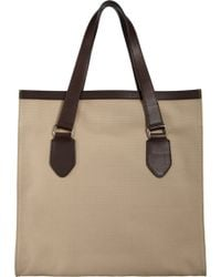Barneys New York Brown Opentop Tote - Lyst