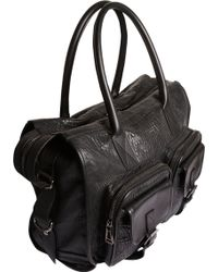 Belstaff - Carnegie Leather Bag with Exterior Pockets - Lyst