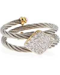 Charriol | Squarestation Diamond Cable Ring Size 65 | Lyst