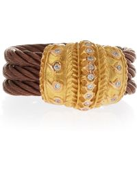 Charriol Threerow Cable Ring Size 65 brown - Lyst