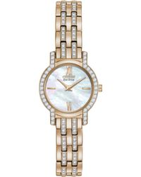 Citizen Womens Ecodrive Crystal Accent Rose Goldtone Stainless Steel Bracelet Watch 22mm 53d A Macys Exclusive - Lyst