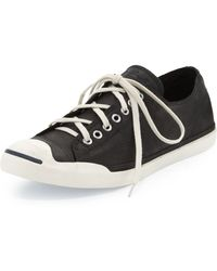 Converse John Purcell Leather Lowtop Sneaker Black - Lyst