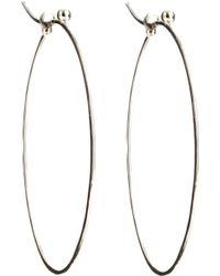 Dean Harris - White Gold Oval Hoop Earrings - Lyst