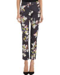 Erdem - Floral Print Slim Trousers - Lyst