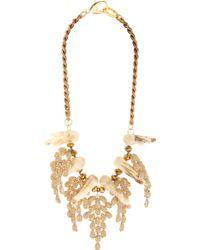 Fenton - Crystal Coral Weeping Collar - Lyst