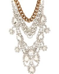 Fenton Crystal Chain Bib Necklace - Metallic