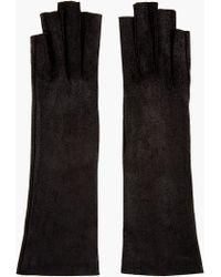 Gareth Pugh - Black Leather Cut Out Gloves - Lyst