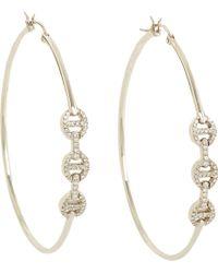 Hoorsenbuhs - Diamond White Gold Hoop Earrings - Lyst