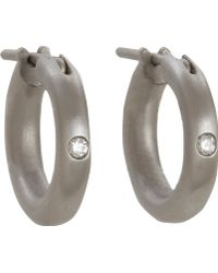 Linda Lee Johnson - Diamond Nony Hoop Earrings - Lyst