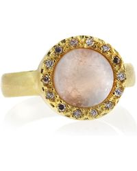 Marcia Moran - Pave Setting Round Druzy Ring Pink Size 7 - Lyst