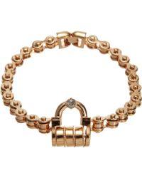 Mawi - Rose Gold Padlock Choker - Lyst