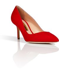 Rupert Sanderson Suede Flute Pointed Toe Pumps - Lyst