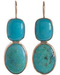 Sandra Dini Turquoise Earrings - Blue