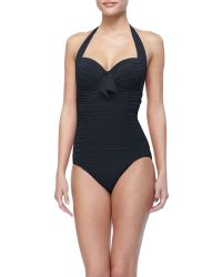 Seafolly Goddess Mailot Soft Cup Halter Top One Piece - Lyst