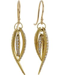 Ten Thousand Things - Pave Diamond Large Tusk Earrings - Lyst