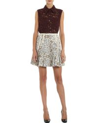 Timo Weiland - Floral Lace Sleeveless Button Front Top - Lyst
