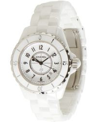 Chanel White Ceramic J12 Classic Watch - Lyst