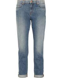 J Brand Aidan Mid-rise Boyfriend Jeans - Lyst