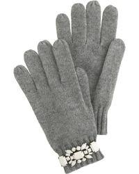 J.Crew Jewelled Gloves - Grey
