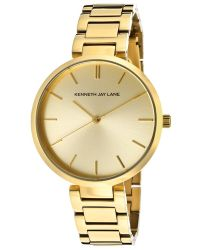 Kenneth Jay Lane - Womens Gold Tone Dial Gold Tone Ip Stainless Steel Kjlane Watch - Lyst