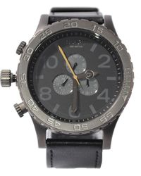 Nixon The Chrono Watch with Leather Band - Lyst