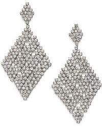 ABS By Allen Schwartz Chandelier Earrings - Metallic