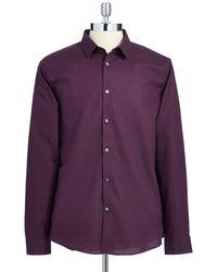 Calvin Klein Textured Sports Shirt - Lyst
