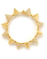 Eddie Borgo Alternating Pave Cone Bracelet - Metallic
