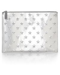 Ela - Small Metallic Allover Star Pouch - Lyst