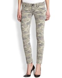Hudson Collin Camouflage Print Skinny Jeans - Lyst