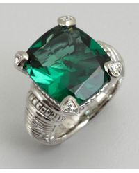 Judith Ripka Green Quartz and Silver Large Fontaine Ring - Lyst