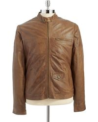 Lucky Brand - Leather Jacket - Lyst