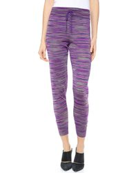 M Missoni | Space Dye Knit Track Pants | Lyst