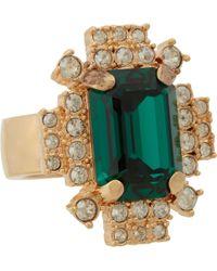 Mawi - Emerald Crystal Geometric Ring - Lyst