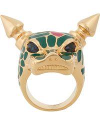 Mawi - Crystal Enamel Panther Ring - Lyst