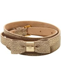 Mulberry Brown Bow Belt - Lyst
