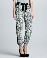 Pjk Patterson J. Kincaid - Belted Floralprint Pants - Lyst