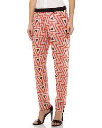 Sass & Bide Seven Months Print Pants - Orange