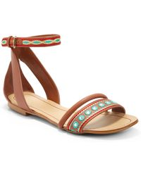 Boutique 9 Panthino Flat Leather Sandalsbrown - Lyst
