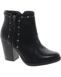 Fred Perry New Look Huddy Studded Zip Black Ankle Boots