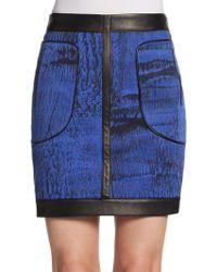 Kelly Wearstler Cata Printed Twill Skirt blue - Lyst
