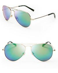 Michael Kors Dylan Aviator Sunglasses - Lyst
