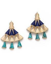 Sarah Magid - Lazuli Cone Chandelier Earrings - Lyst